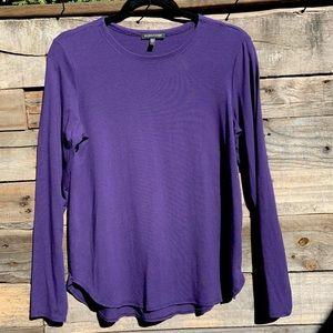 🌻Eileen Fisher Organic Long Sleeve Scoop Neck Purple T-shirt Size Small